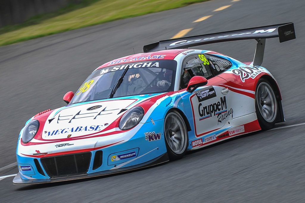 Jono Lester in the GruppeM Porsche