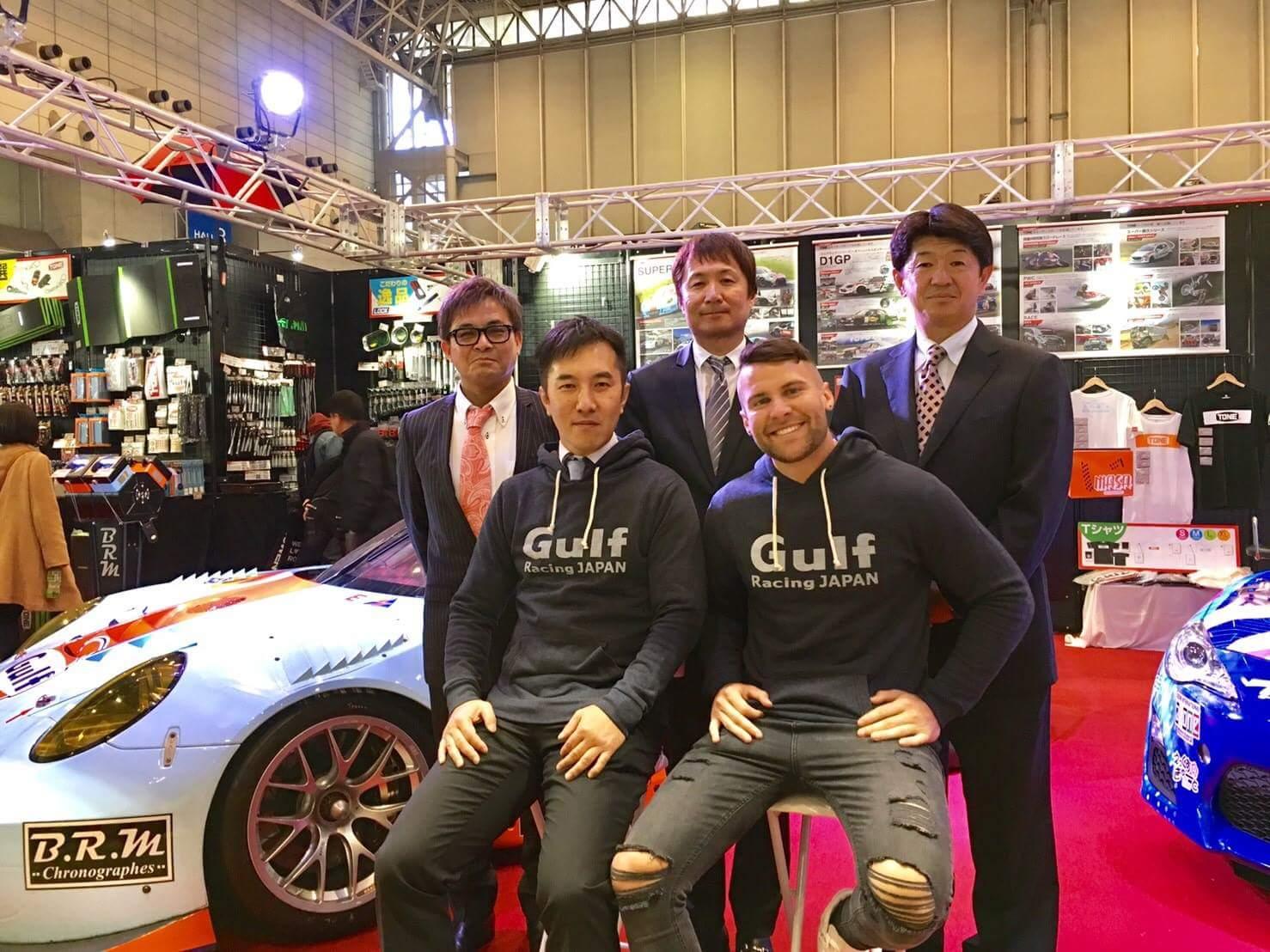 Jono Lester with Gulf Racing Japan at the 2017 Tokyo Auto Salon
