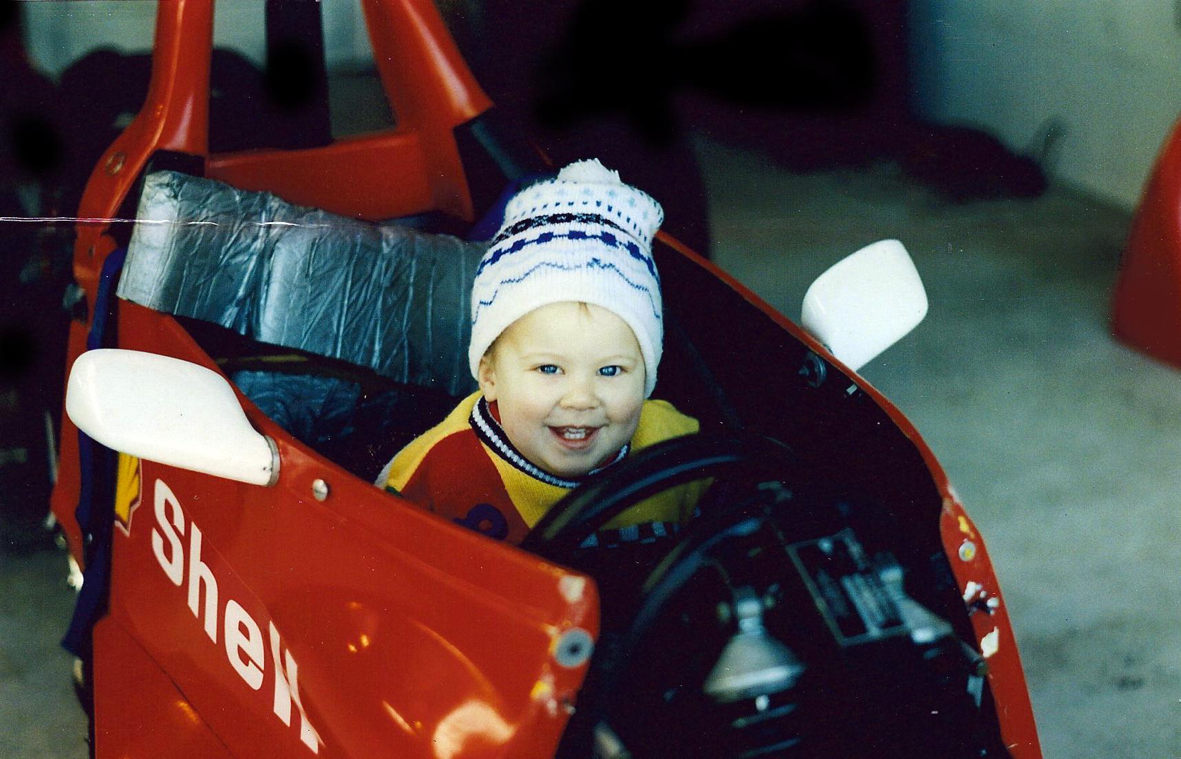 Jono Lester as a baby 1991