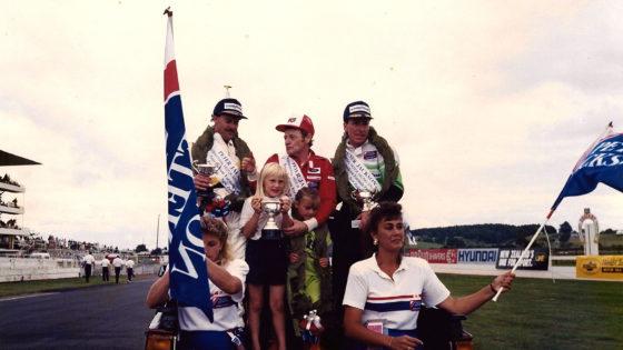 1990 New Zealand Grand Prix podium