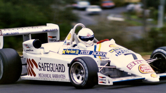 Richard Lester in the 1990 New Zealand Grand Prix Formula Pacific