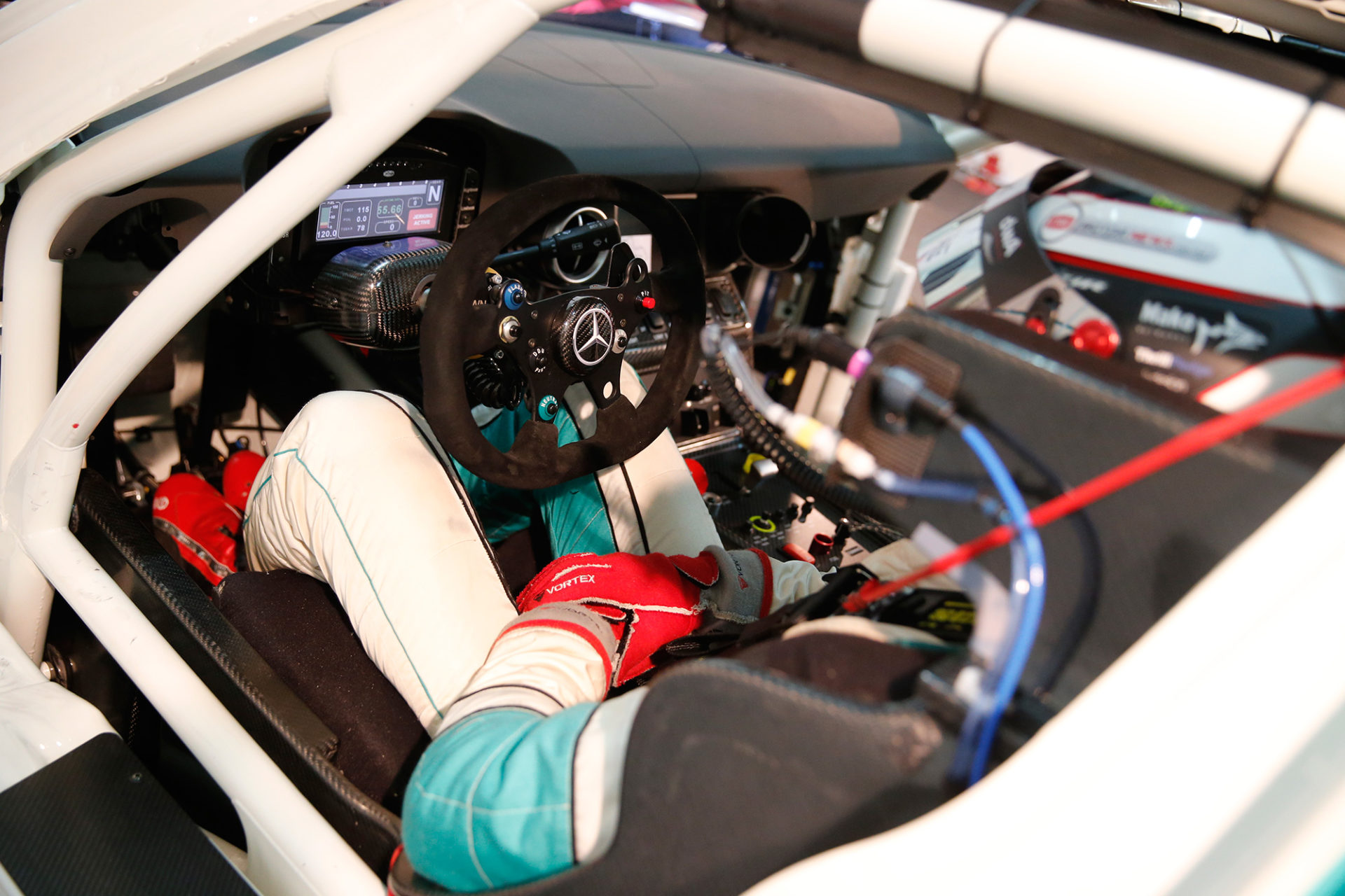 Jono Lester in the Petronas SLS AMG GT3