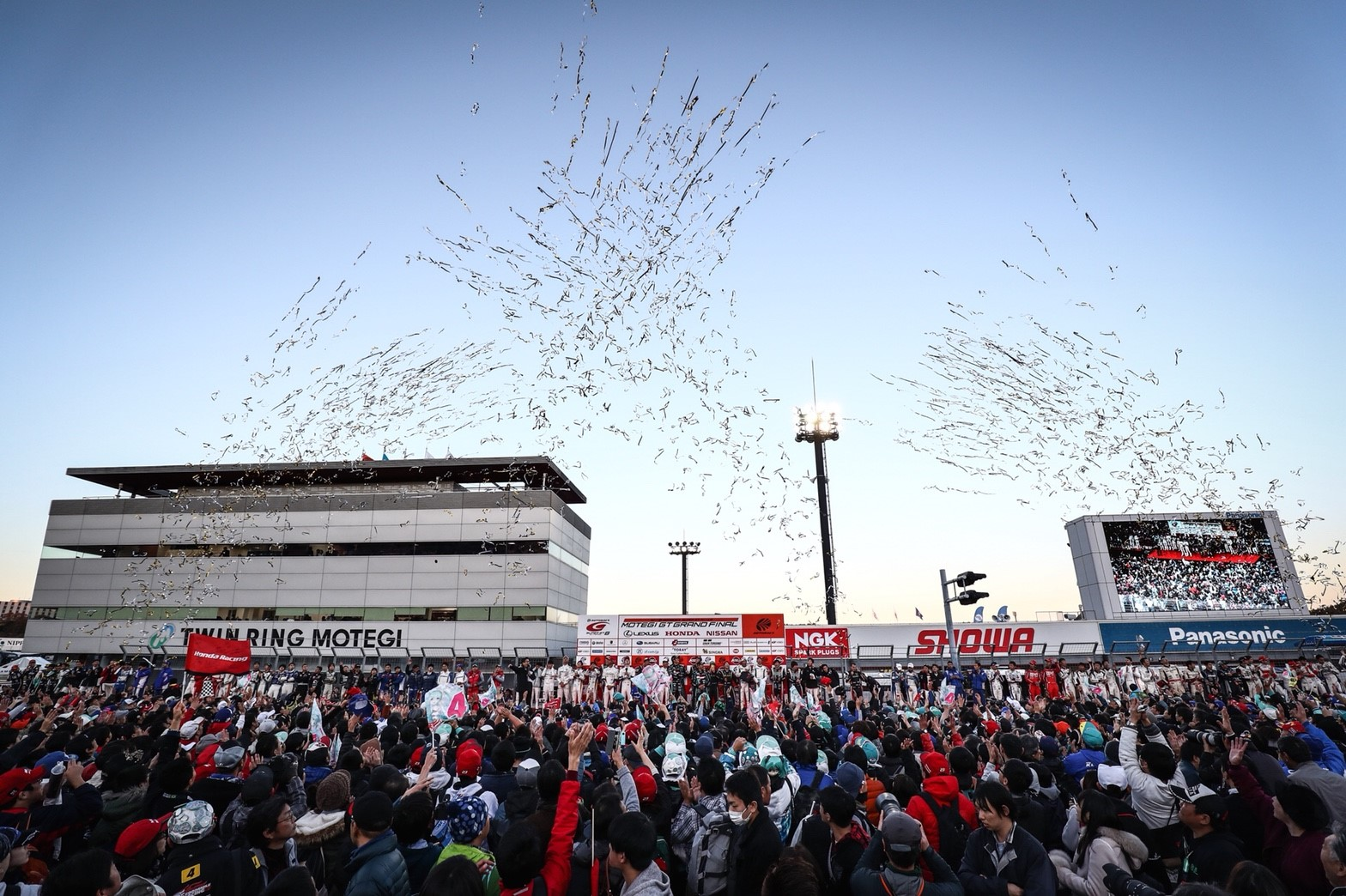 SUPER GT Podium Celebrations at Motegi