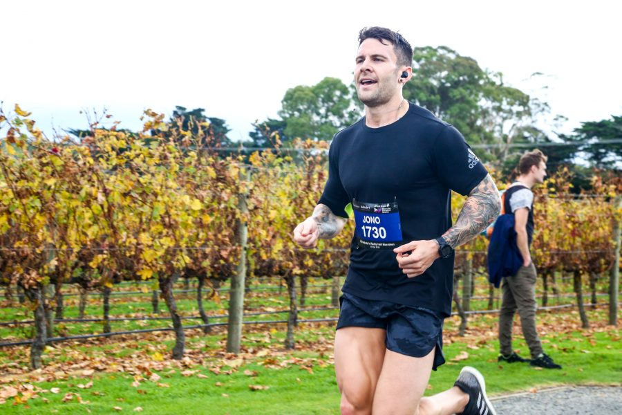 Jono Lester at the Hawke's Bay Marathon