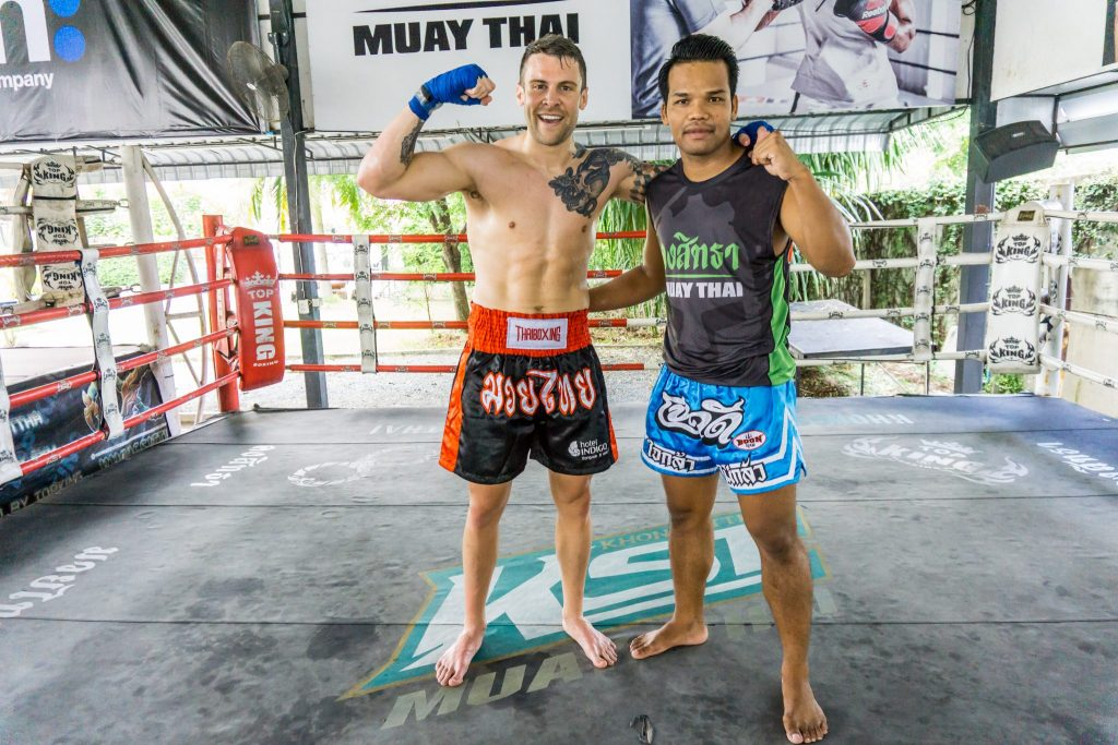 Jono Lester at Khongsitta Muai Thai in Bangkok