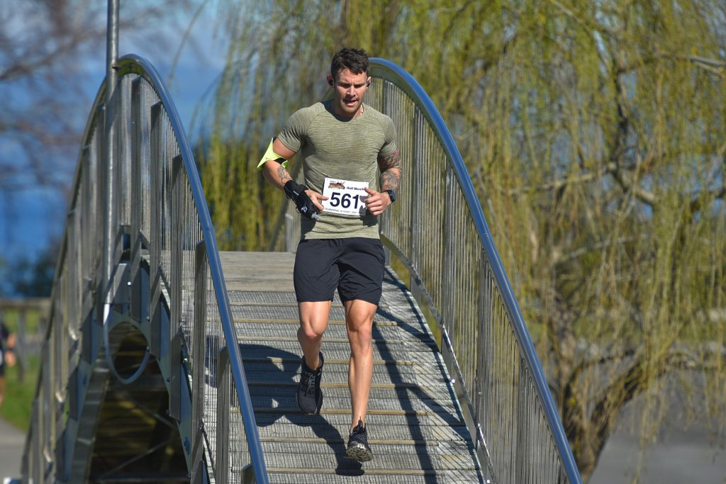 Jono Lester out running on New Zealand trails